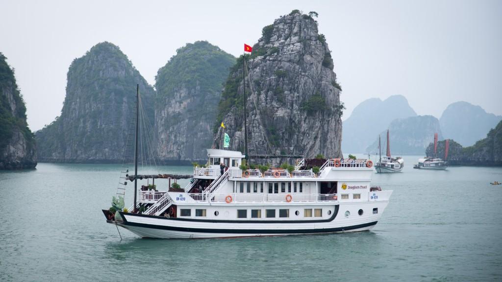 Unser Schiff, die Dragon Pearl in der Halong Bay
