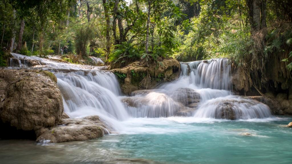 Wasserfälle bei Luang Prabang