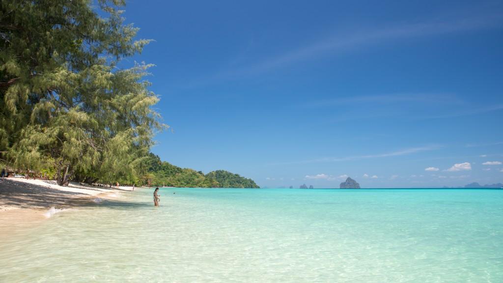 Strand von Koh Kradan in Thailand