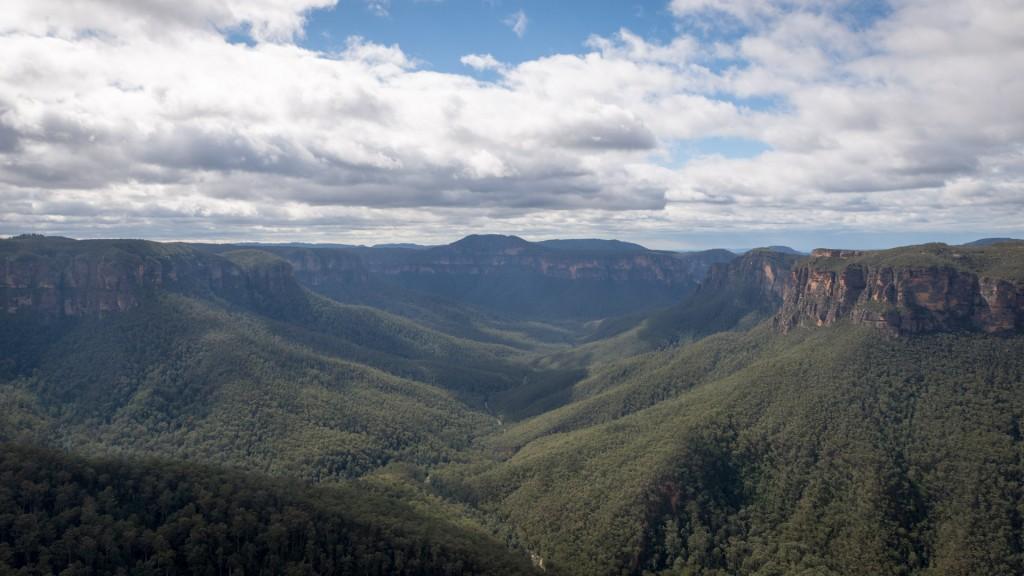 Die Aussicht auf die Blue Mountains
