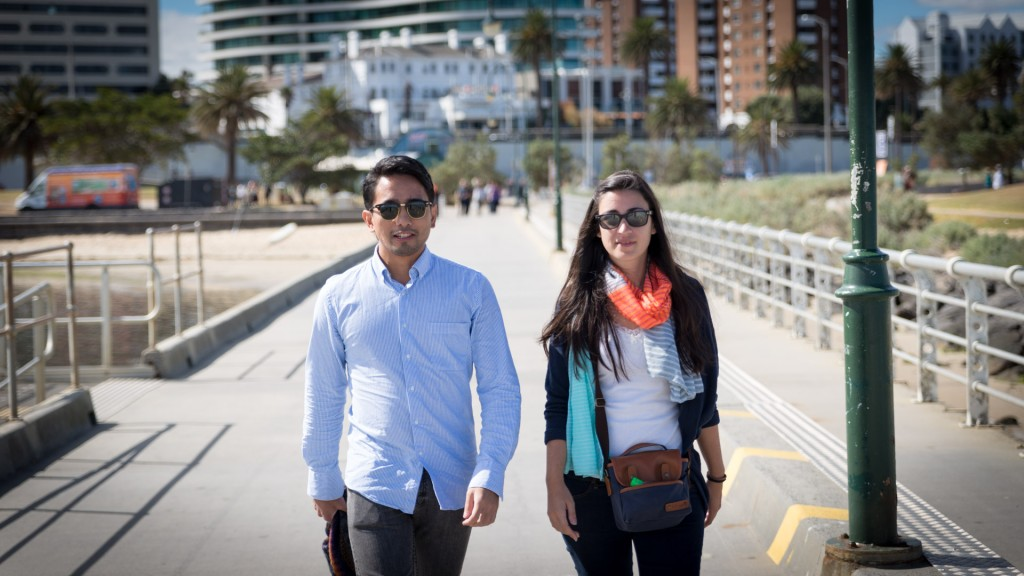 Ayca und Juan in St. Kilda