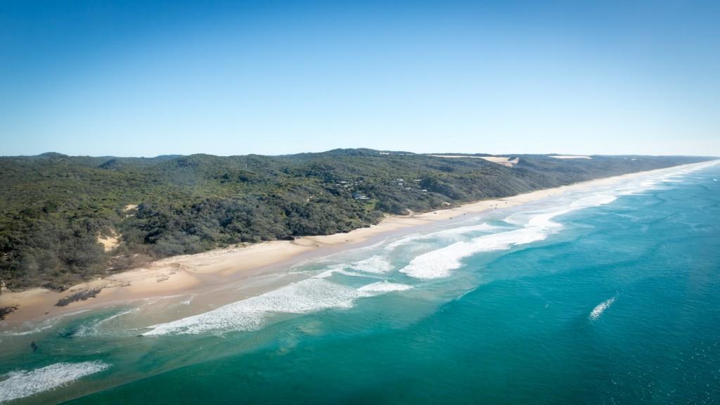 Fraser Island aus der Luft