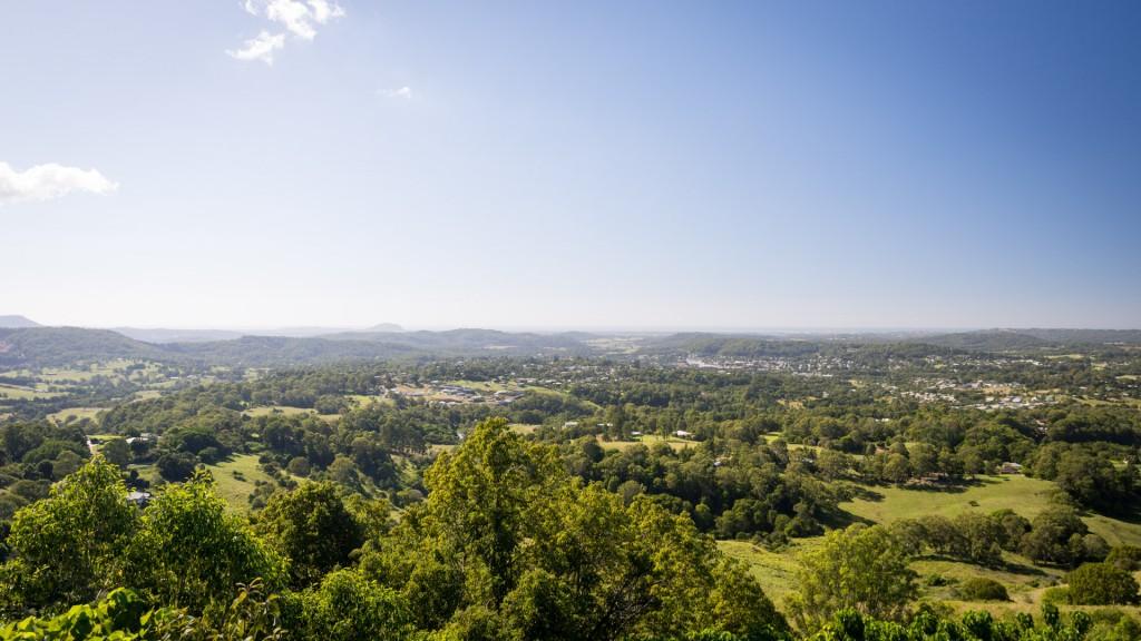 Die Aussicht auf die Sunshine Coast