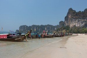 Longtail Boote in Railay